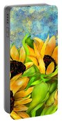 Sunflowers On Holiday Portable Battery Charger