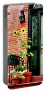 Sunflowers On Stoop Portable Battery Charger
