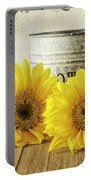 Sunflowers Postcard Portable Battery Charger