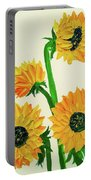 Sunflowers Using Palette Knife Portable Battery Charger