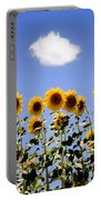 Sunflowers With A Cloud Portable Battery Charger
