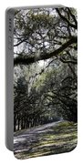 Sunlight And Shadows On Live Oaks Portable Battery Charger
