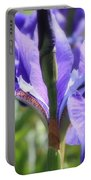 Sunlight On Blue Irises Portable Battery Charger by Carol Groenen