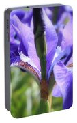Sunlight On Blue Irises Portable Battery Charger