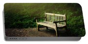 Sunlight On Park Bench Portable Battery Charger