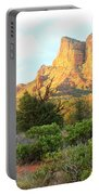 Sunlight On Sedona Rocks Portable Battery Charger