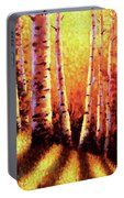 Sunlight Through The Aspens Portable Battery Charger