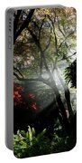 Sunlight Through The Tree In Misty Morning 1. Portable Battery Charger