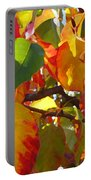Sunlit Fall Leaves Portable Battery Charger