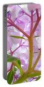 Sunlit Hydrangea Flowers Garden Art Prints Baslee Troutman Portable Battery Charger