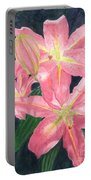 Sunlit Lilies Portable Battery Charger