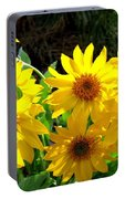 Sunlit Wild Sunflowers Portable Battery Charger