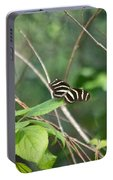 Sunning Zebra Longwing Butterfly Portable Battery Charger