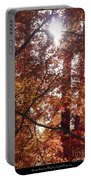 Sunny Autumn Day Poster Portable Battery Charger