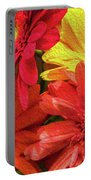 Sunny Daisy Flower Art Portable Battery Charger