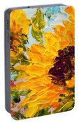 Sunny Day Sunflowers Portable Battery Charger by Barbara Pirkle
