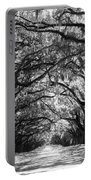 Sunny Southern Day - Black And White Portable Battery Charger by Carol Groenen