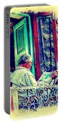 Sunny Sunday Morning Newspaper Vintage India Rajasthan Udaipur 2b Portable Battery Charger