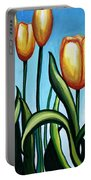 Sunny Yellow Tulips Portable Battery Charger