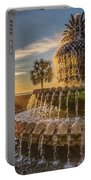 Sunrise At Pineapple Fountain Portable Battery Charger