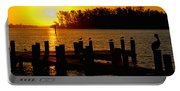 Sunrise At The Boat Launch  Portable Battery Charger