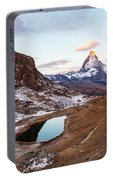 Sunrise At The Matterhorn Mountain Area Portable Battery Charger