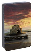 Sunrise At Vista House On Crown Point Portable Battery Charger