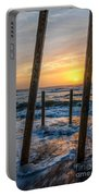 Sunrise Between The Pillars Landscape Photograph Portable Battery Charger