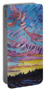 Sunrise Freezing Rain Deformation Zone Portable Battery Charger by Phil Chadwick