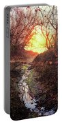Sunrise In The Forest Portable Battery Charger