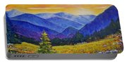 Sunrise In The Mountains Portable Battery Charger
