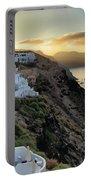 Sunrise On Santorini Portable Battery Charger
