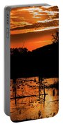 Sunrise Over A Pond Portable Battery Charger