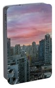 Sunrise Over Downtown Vancouver Bc Portable Battery Charger