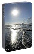 Sunrise Over Folly Beach Pier Portable Battery Charger