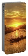 Sunrise Over  Payette River Portable Battery Charger