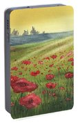 Sunrise Over Poppies Portable Battery Charger