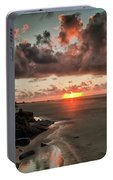 Sunrise Over The Beach Portable Battery Charger