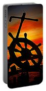 Sunrise Over The Captain's Wheel 2 Portable Battery Charger