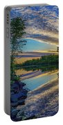 Sunrise Over The Champlain Canal Portable Battery Charger