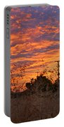 Sunrise Over The Wheat Fields Portable Battery Charger