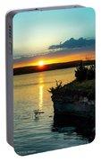 Sunrise Over Wilson Lake Portable Battery Charger
