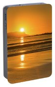 Sunrise Seascape With The Sun Portable Battery Charger