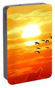 Sunrise / Sunset / Sandhill Cranes Portable Battery Charger