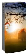 Sunrise Through Trees Portable Battery Charger