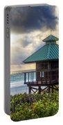 Sunrise Tower At The Beach Portable Battery Charger