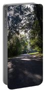 Sunrise,trees And Shadows Portable Battery Charger