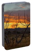 Sunset And Petrified Tree Portable Battery Charger