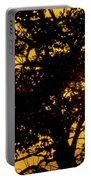 Sunset And Trees - San Salvador I Portable Battery Charger