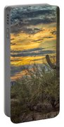 Sunset Approaches - Arizona Sonoran Desert Portable Battery Charger